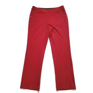 NWT Skye's The Limit Womens Knit Pants Red Size 12